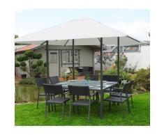 Leco Dining Pavillon + Esstisch und Gartenzelt (3 x 3 m) anthrazit