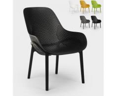 Moderne Designstühle für Küche und Bar aus Polypropylen Majestic | Schwarz