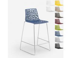 Grand Soleil Design Hocker für Küchenbar 86cm Mini Spider | Blau