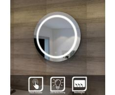 SONNI sunnyshowers LED Bad Spiegel rund 84cm wandspiegel Lichtspiegel Badspiegel LED Beleuchtung,