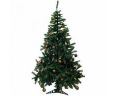 Künstlicher Weihnachtsbaum inklusive 100er Baumkugel-Set in Braun Tannenbaum mit Christbaumständer