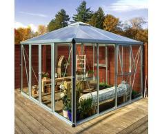 Vitavia Gewächshaus-Pavillon 'Fortuna' aluminium eloxiert 3 mm ESG, 10 mm HKP
