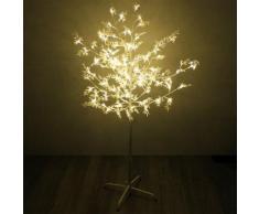 Beleuchteter Baum mit Blättern 120 LED H150cm Lichterdeko Stimmungslicht Leuchtbaum Lichterbaum