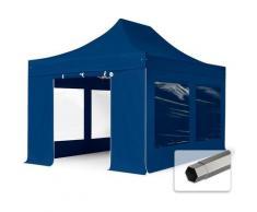 Faltzelt Partyzelt 3x4,5m - mit Panoramafenstern PROFESSIONAL Dach 100% WASSERDICHT Faltpavillon