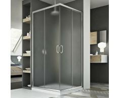 Junior Duschkabine 80x80 CM H185 Strukturglas