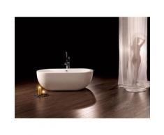 Freistehende Badewanne Gandia Medio aus Acryl in weiß glänzend von - Bädermax