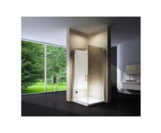 Duschkabine Eckdusche Nano Echtglas EX403 - 80 x 80 x 195 cm