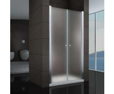 Duschtür Pendeltür Nischentür Duschabtrennung Schwingtür Dusche Satiniert 124-128 cm 195cm Höhe