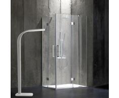 Rahmenlose Duschkabine 80 × 120 Aus 6 Mm Kristallglas London