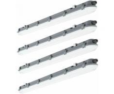 4x LED Decken Wannenleuchte Lampe Beleuchtung L 120cm 4000 Kelvin, 4320 Lumen Feucht- und