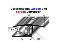 "Übergangsprofil / Übergangsschiene Laminat ""Yorkton"", 12 - 22 mm, 35 mm breit, 3-teilig, Aluminium"