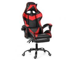 Bürostuhl Gaming Gamer Stuhl ohne Fußstütze Red Hasaki