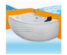 Eckwanne Whirlpool Raumsparwunder Pool Badewanne A617-A-ALL 100x160 -16628- mit Radio und Farblicht
