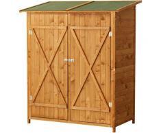 Outsunny Gerätehaus Holz Gartenschuppen Geräteschuppen Doppeltür