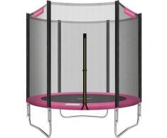 Trampolin Ø 183 cm, rundes Gartentrampolin mit Sicherheitsnetz, mit Leiter und gepolsterten