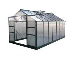 Gartengewächshaus aus Polycarbonat Dahlia Tannengrün 13,29 m²