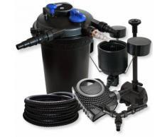 Wiltec - SunSun Druckteichfilter Set 30000l 18W UVC NEO8000 70W Pumpe 25m Schlauch Skimmer