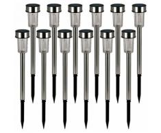 16x LED Solarleuchte aus Edelstahl