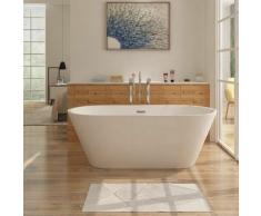 Freistehende Design Badewanne LUGANO - aus Acryl in Weiß 170 x 80 cm