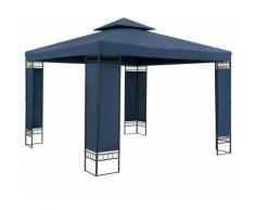 Pavillon Gartenzelt Gartenpavillon Lorca 3x3m Metall Wasserabweisend Luxus blau
