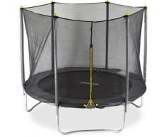 2 tlg. Outdoor Trampolin Set, Gartentrampolin für Kinder & Erwachsene, Fangnetz mit 6 Stangen, Ø