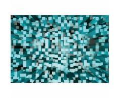 Papier Fototapete 3D Quadrate blau 368x254cm