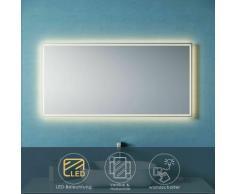 Badpiegel LED 120x60 mit LED-Beleuchtung Wandspiegel Lichtspiegel Badezimmer