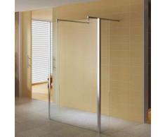 Walk In Dusche Duschwand Klarglas inkl. 2 Wandhalterungen W821 100x200cm