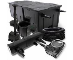 FilterSet: Bio Teichfilter bis 90000l UV Klärer mit 18W 80W Pumpe Skimmer und Springbrunnenpumpe