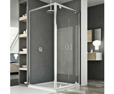 Sintesi Duo 2 Türen Duschkabine 120x90 ÖF. 120 CM H185 Klarglas