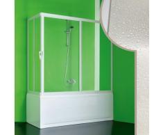 Acryl Badewannenaufsatz 160x80CM Nettuno mit zentraler Öffnung