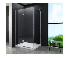 Duschkabine NOVUM 110 x 90 x 195 cm ohne Duschtasse