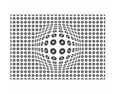 Papier Fototapete Punkte schwarz und weiß 368x254cm