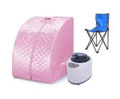 Mobile Dampfsauna Wärmekabine Saunakabine Sitzsauna Heimsauna Pink