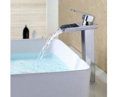 Wasserhahn Wassrerfall Hohe Badarmatur Armatur Chrom Waschtischarmatur Mischbatterie