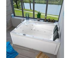 Whirlpool Pool Badewanne Eckwanne Wanne A612H-C Reinigungsfunktion 180x135 -13412- mit