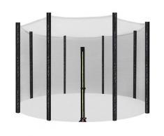 Sicherheitsnetz für Trampolin, Ersatznetz Ø305cm für 8 Stangen, rundes Schutznetz für