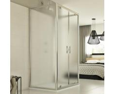 Cristal Trio 2 Türen 3-seitige Duschkabine 90x100x90 CM H198 ESG-Strukturglas C