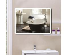 WYCTIN® Badezimmerspiegel LED Badspiegel mit Beleuchtung Wandspiegel badezimmerspiegel LED Touch