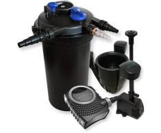 XXL Set Druckfilter 30000l 18W UVC Teichklärer 70W Pumpe Springbrunnenpumpe Skimmer 40