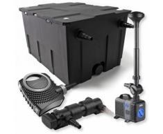 SunSun 1-Kammer Filter Set für 60000l mit 18W UVC Teich Klärer NEO7000 50W Pumpe Springbrunnen