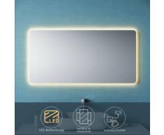 Sonni - Badspiegel LED 120x60 mit Beleuchtung Wandspiegel Spiegel Lichtspiegel Bad