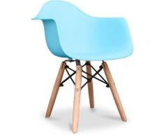 Premium Kinder Dawick Stuhl - Matt Light blue