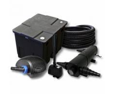 Filter Set für 12000l Teich mit 18W Teichklärer und CTF ECO Pumpe mit 20W 25m Schlauch Springbrunnen