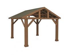Holz Pavillon Yukon 14x12 Gartenpavillon natur 427x366 cm - Westmann