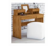 Wooden Nature Premium Schminktisch Kapiti 24 Wildeiche massiv geölt - Abmessungen: 113 x 115 x 45
