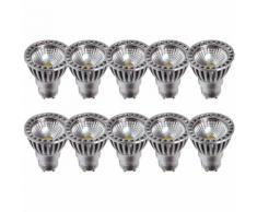 Set mit 10 LED-Lampen GU10 4W 2700 k