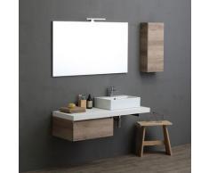 Modulare Badezimmermöbel Valentina Quadratisches Waschbecken 120 Cm