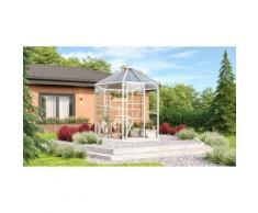 Vitavia Gewächshaus-Pavillon 'Juno 4500' inkl. Stahlfundament weiß 11,5 m² 3 mm ESG, 6 mm HKP