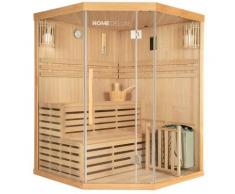 Home Deluxe - Traditionelle Sauna Skyline XL | Eckkabine, Ecksauna, Saunakabine inkl. Saunaofen